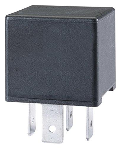 HELLA 4RA 007 791-011 Relais, Arbeitsstrom - 12V - 4-polig - Schaltbild: S2 - Steckerausf.-ID: B - Schließer - schwarz - ohne Halter
