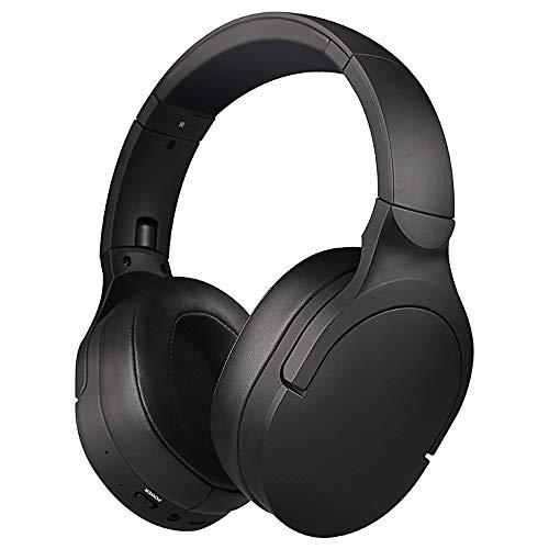 Bluetooth Estéreo Auriculares Música Sonido de alta fidelidad, Bluetooth Banda para la cabeza plegable con micrófono y cable de 3.5MM audio, Diseño de oreja de gato desmontable, para TV Phone PC,D