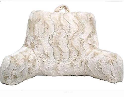 Better Homes and Gardens Beautyful Soft Faux Fur Backrest Pillow Ivory, Pack of 2