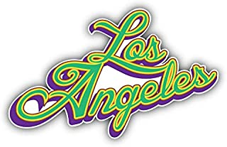 Los Angeles Slogan USA Window Truck Car Bumper Sticker Decal 5'' x 3''