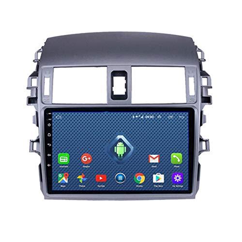 DGDD Android 10.0 Radio Stereo Coche Navegación GPS 9 Pulgadas 2.5D HD Pantalla Táctil Ser Aplicable para Toyota Corolla (2007-2013) Apoyo Manos Libres WiFi 4G FM Am SWC DSP Mirror Link 2G+32G