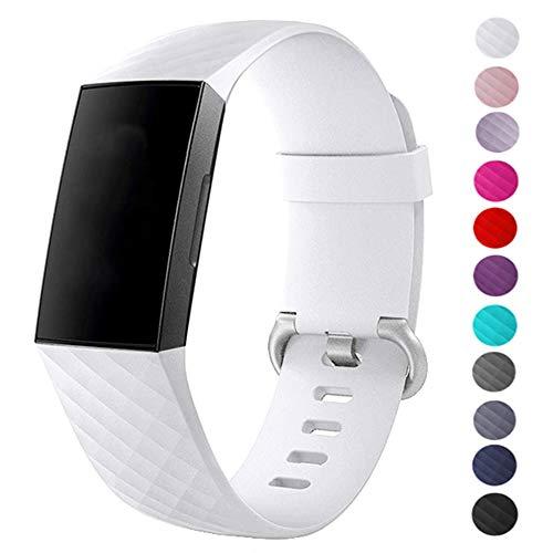 Fentace Correa para Fitbit Charge 3, Deportes Recambio de Pulseras Ajustable Accesorios para Fitbit Charge 3 Grande Pequeño, 11 Colores