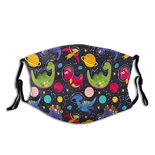 Cute Dinosaur Colorful Dust Novelty Face Mask Balaclava Scarf Multi-Purpose Women Men Muffler Reusable Protection Mouth Cover 1 Pcs
