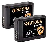 PATONA (2X) Protect V1 - LP-E12 Akku (850mAh) mit NTC-Sensor & V1 Gehäuse