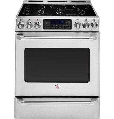 GE CS980STSS Cafe 30' Stainless Steel Electric Smoothtop Range - Convection
