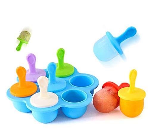 Yukaki Eisformen Eis Am Stiel Silikon Bpa Frei Baby Kind Diy ErgäNzung Werkzeug Lebensmittel FüR Kinder Obst SchüTteln Eis Form