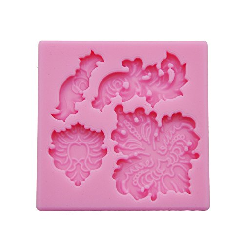 DeColorDulce Charms Moule 3D, Silicone, Rose, 16 x 10 x 3 cm