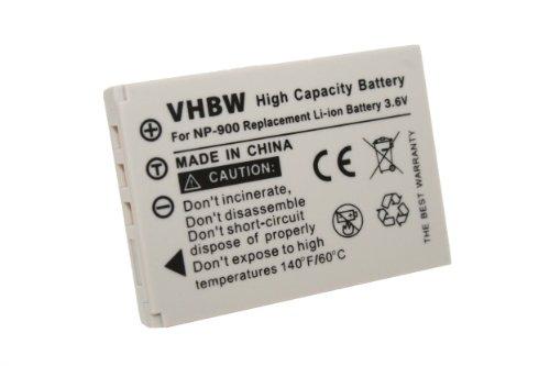 vhbw Li-Ion batería 800mAh (3.6V) para cámara BenQ DC E43, DC E53, DC E720 y NP-900, 02491-0015-00.