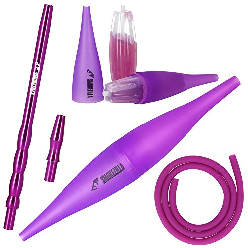 SMOKEZILLA® Ice Bazooka COOLIN - Shisha Mundstück Set In Lila - Hochwertiges Shisha Zubehör Aus Aluminium - Inklusive Shisha Schlauch & Adapter