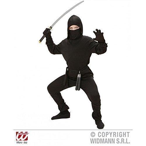 Lively Moments Einfaches Ninjakostüm Schadow Master für Kinder Gr. M = 140 ca. 8 - 10 Jahre
