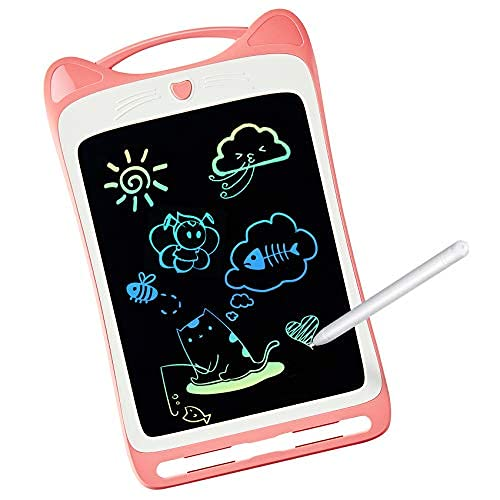 LODBY Toys for 3 4 5 6 Year Old Girls Gifts, Colorful LCD Doodle Drawing Board for Toddler Girl Toys for 2-3-4-5 Year Old Girls Gifts Age 3-6, Sketch Pad Drawing Tablet for Kids Toys Age 3-8
