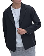 [アマツ] テーラードジャケット メンズ カジュアル ジャケット おしゃれ トップス ゆったり オーバーサイズ アウター 大きいサイズ