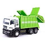 YN ゴミ収集車のおもちゃ子供衛生カーのおもちゃ大きな慣性エンジニアリング両セットクリーニング車のおもちゃの車のモデル (Color : Green)