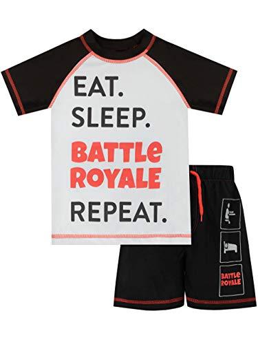 Battle Royale Boys' Gaming Two Piece Swim Set Black Size 10
