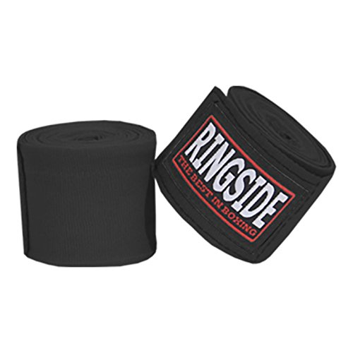 Ringside Mexican Style Boxing Hand Wraps (Pair), Black
