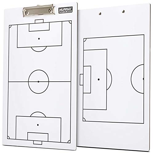 Murray Sporting Goods Dry-Erase Double Sided Soccer Coaches Clipboard