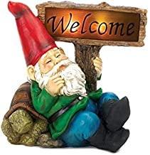 Summerfield Terrace Gnomes Christmas, David The Gnome, Yard Ornament Welcome Gnome Solar Statue (Sold by Case, Pack of 6)