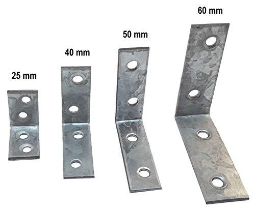 Klein/Groß Stahl Halterung Winkel rechts 25/30/40/50/60/80L Ecke Reparatur Bandage