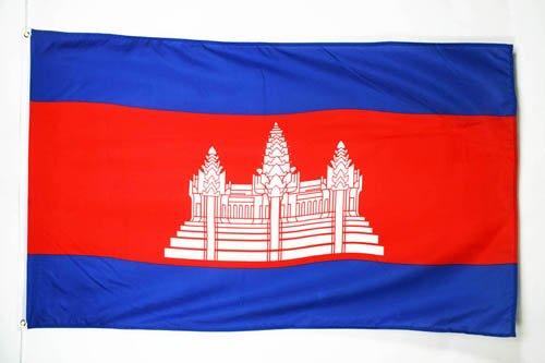 AZ FLAG Flagge KAMBODSCHA 150x90cm - KAMBODSCHANISCHE Fahne 90 x 150 cm - flaggen Top Qualität