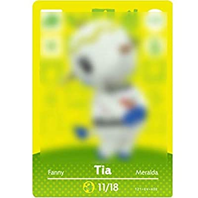 No.121 Tia ACNH Animal Villager Cards Series 2. Third Party NFC Card. Water Resistant