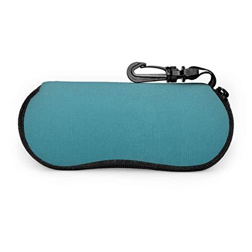 Estuche para gafas, fundas para gafas de recortes, papel de textura de scrapbook, estuche de gafas de sol de neopreno con cremallera suave