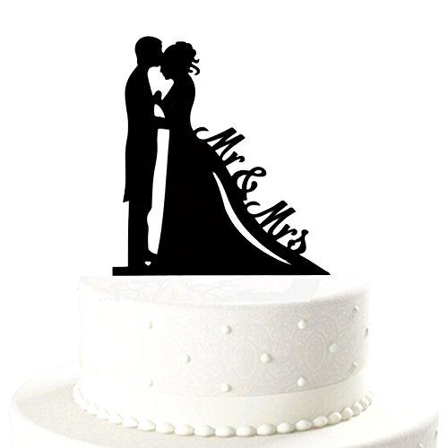 Oblique-Unique® Brautpaar Mr & Mrs Hochzeitstorte Topper Acryl Kuchendeckel Hochzeit
