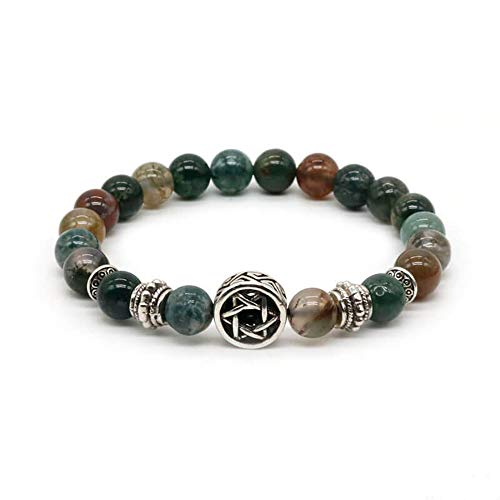 Nobrand Vintage Versilbertes Jüdisches Davidstern-Armband Für Männer/Frauen Lava Rock Stone Armbänder Pulseira Masculina