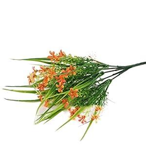 Artificial Flowers Gypsophila/Eucalyptus Rose/Daisy/Anthurium, Porch Window Frame Home/Outdoor Decor Plastic Leafy Shrub Garden, 2 Bundles