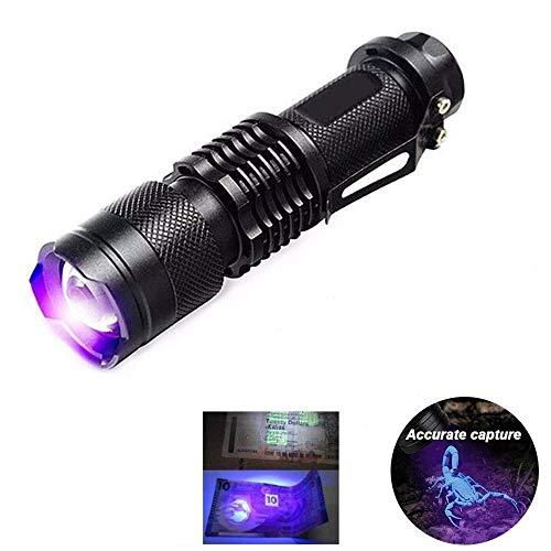 KAEHA grhv-01 LED, Linterna Ultravioleta, Detector Negra de Mano detección de luz para Acampar, Caminar, emergencias, Unisex-Adult, Black, One Size ✅