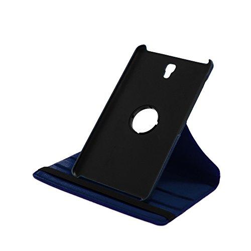Drehbare Hülle mit Standfunktion für Samsung Galaxy Tab S 8.4 in BLAU mit automatischer Sleep- & Wake-Up-Funktion [passend für Modell SM-T700, SM-T705]