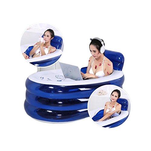 ANDEa Adulto inflado de la bañera de aislamiento del respaldo plástico más...