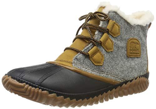 Sorel Women's Out n About Plus Boots, Felt/Quarry, Tan, Grey, 5 Medium US