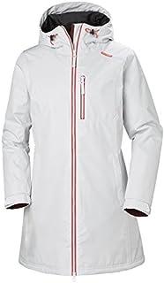 Helly Hansen Women's Long Belfast Insulated Waterproof Windproof Breathable Raincoat Jacket with Hood