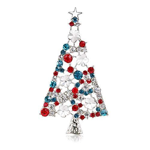 BiBeary Weihnachtsbaum Broschen für Damen Zirkonia Weihnachten Geschenke Party Fashion bunt