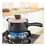 XINGJIJIJIA Geschmack Keramik Casserole Milch Pan Baby-Pot Porridge Stew Babynahrung Pot Stockpot 1.5L mit Griff mit Topf kratzen (Color : Orange B)
