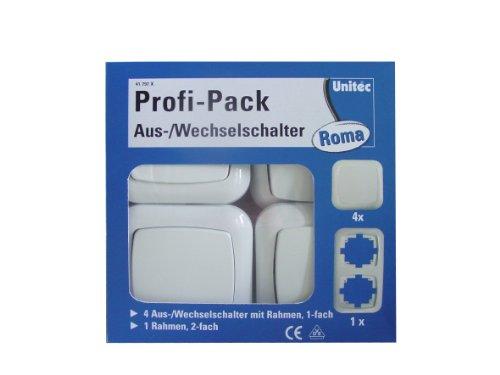 UNITEC 41797x A/W Schalterset Roma 4 x A/W, 1 x 2-er Rahmen Set 1