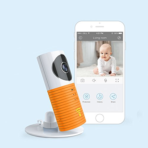 JTD Smart Wireless IP WiFi DVR Security Surveillance Camera with Motion Detector Two-Way Audio & Night Vision Best Security Camera Baby Monitor for Your Baby,Home, Pet or Business (Orange)