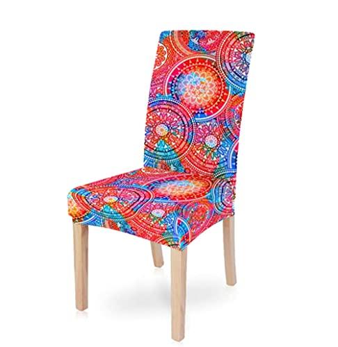 Fundas de sillas Spandex Stretch Restaurante Boda Banquete Silla Cubierta Protectora Extraíble Lavable Pastoral Mandala Impresión