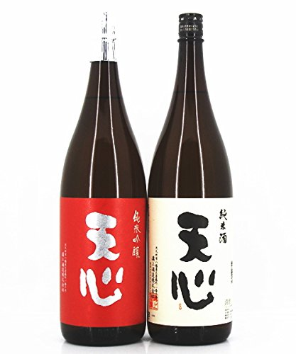 日本酒 セット (紅白ラベル) 純米吟醸酒 天心・純米酒 天心 1800ml×2本 箱入り