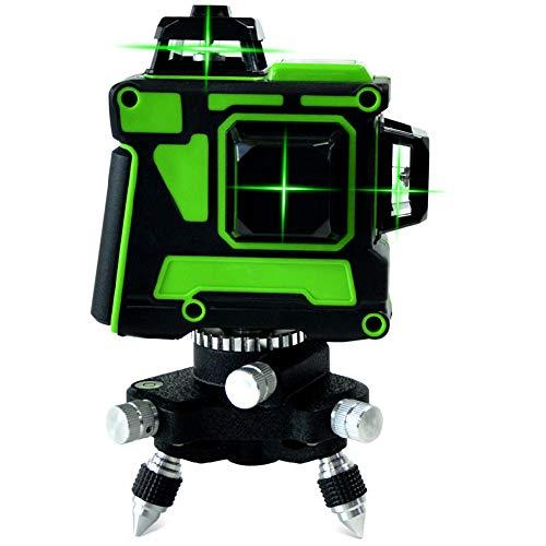 12 linee Livello laser 3 X 360 3D Autolivellante Livellamento e allineamento Strumento laser Linea verde Verticale Orizzontale Ricaricabile Fine Tuning Linee di inclinazione