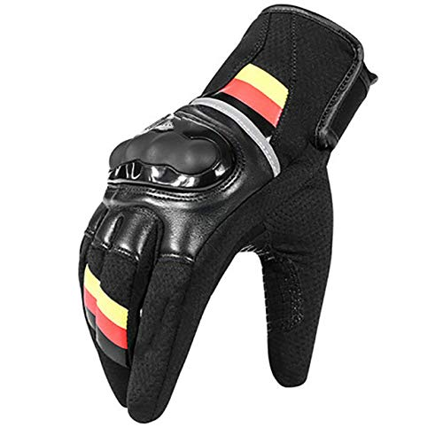 2020 Atmungsaktive Leder Motorradhandschuhe Racing Touchscreen Handschuhe Motocross Herrenhandschuhe Für BMW - Gelb, XL