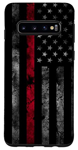Galaxy S10 Thin Red Line USA Flag Axe Vintage Firefighter Fireman Gift Case