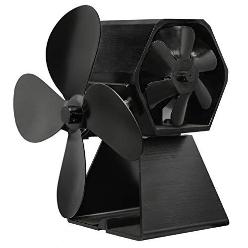 wuxafe Ventilador De Estufa Térmico De 4 Aspas Ventiladores De Chimenea Termodinámicos, Ventilador De Estufa De Calor para Estufas De Leña/Leña/Chimenea