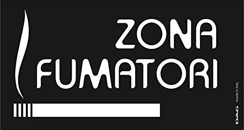 Dag Style SEZF01 Pittogramma Zona Fumatori da Parete, PVC, Nero, 8x15x0.3 cm