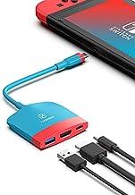 Station d'accueil HAGIBIS Switch Dock USB C avec HDMI USB 3.0 et USB C.Base de remplacement Dock Set Type C vers HDMI Adap...