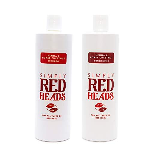 Lot de 2 shampoings et après-shampoing au henné et châtain d'Inde (500 ml)