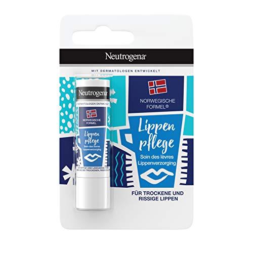 Neutrogena Norwegische Formel Lippenpflege, Lippenbalsam mit LSF 4, Trockene und spröde Lippen, 4,8g