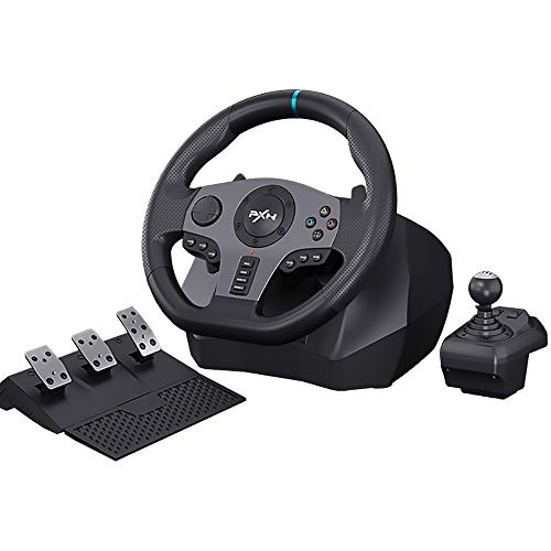 Racing Steering Wheel Gaming Racing Wheel ,PXN V9 Driving Wheel Volante PC 270/ 900 Degree Vibration and Shifter with Pedals for PC,PS4,Xbox One,Nintendo Switch,PS3,Xbox Series S/X