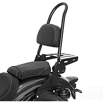 Sissy Bar Luggage Rack for Yamaha XVS 1100 Drag Star 99-02 Black Casual XL