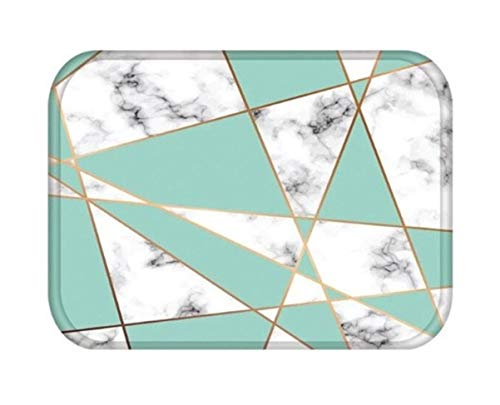 GrandSiri 1 Pc Colorful Sea Geometric Coral Velvet Floor Mat Best Popular Non Slip Soft Cushioned Padded Sets Kitchen Sink Decor Washable Fluffy Foot Gifts, Type-17